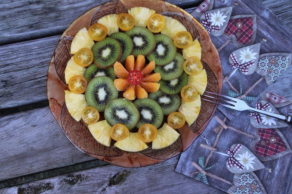 Frutta, Piastra, Multicolore, Fresco, Delizioso, Kiwi