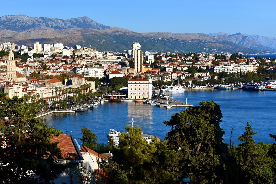 Split, Dalmatia, Croatia, City, Town, Landscape