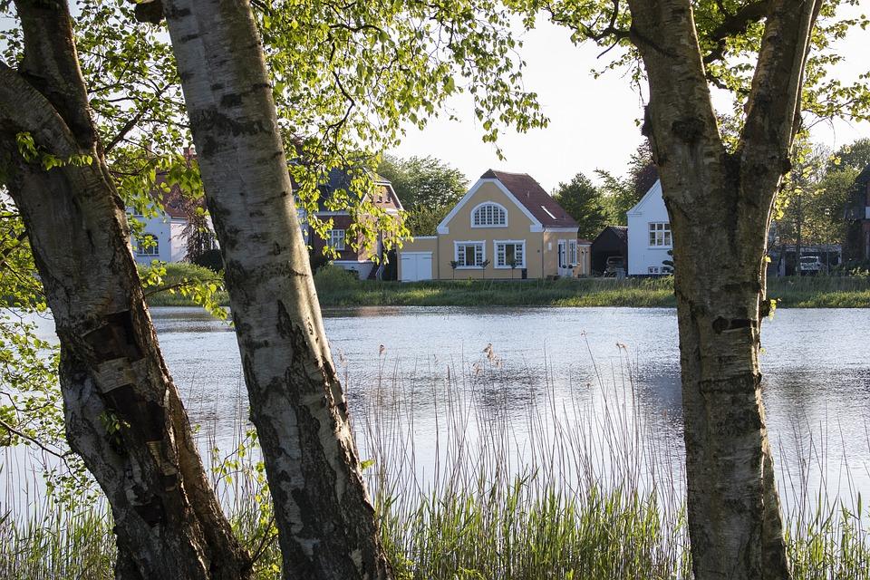 Denmark, Ribe, Lake, Bank, Reed, Village, Quiet, Spa