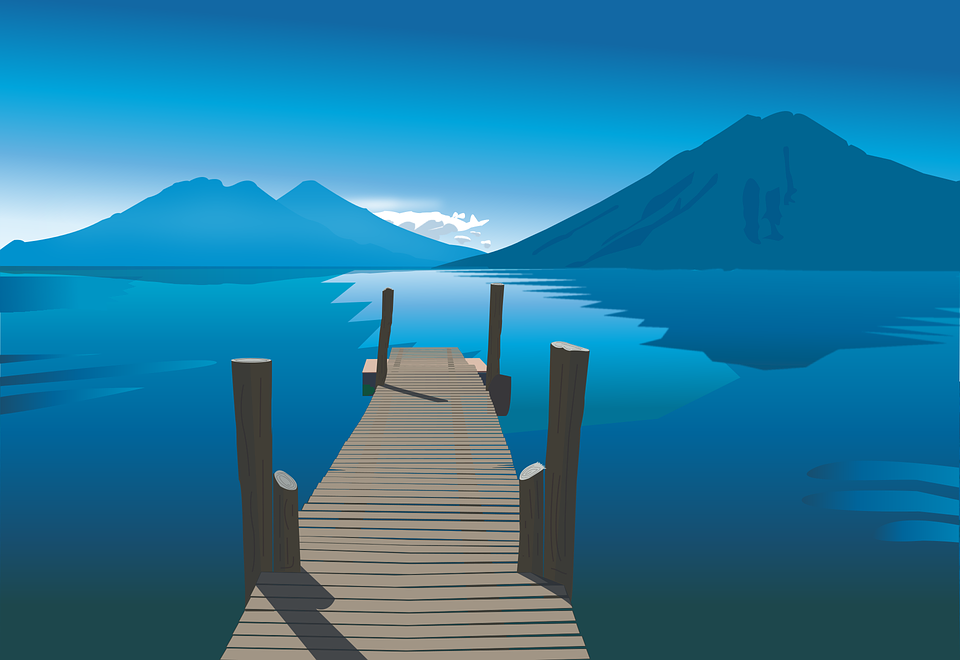 lake landscape blue free vector graphic on pixabay