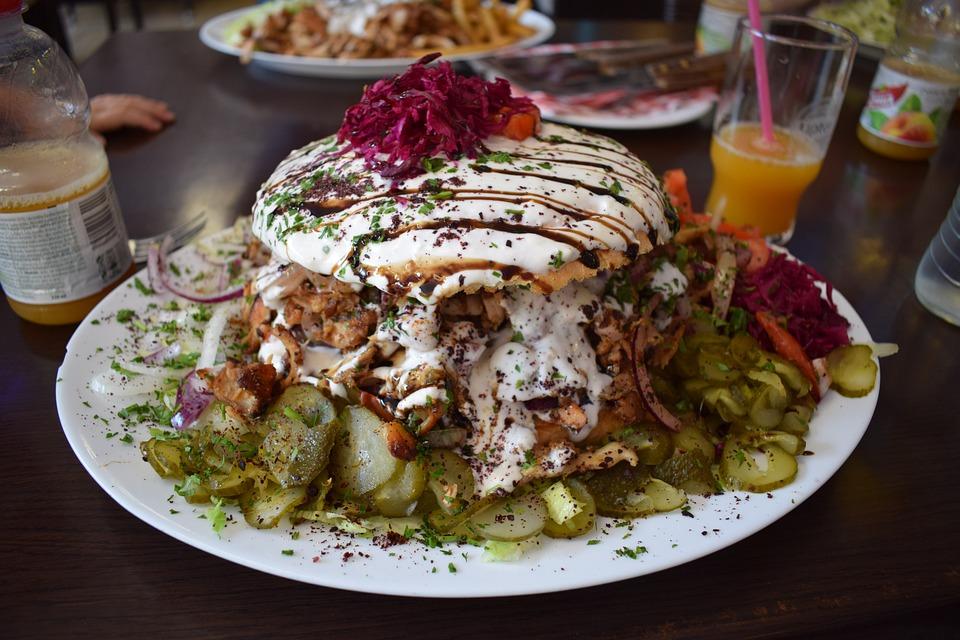 Gyros, Pita, Food, Calories