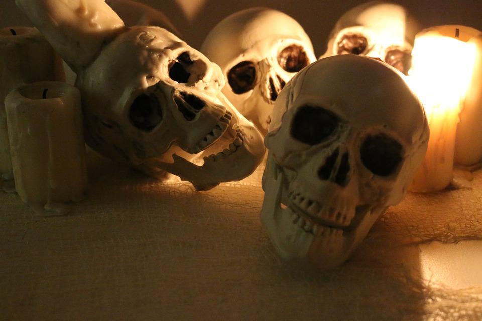 Skulls, Skullsallover, Halloween, Halloweendeco