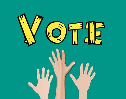 Hand, Raise, Vote, Election, Up