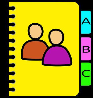 Icône, Carnet, Adresse, Livret, Logo