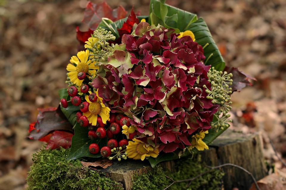 Super Blumenstrauß Herbststrauß Herbst - Kostenloses Foto auf Pixabay &KY_45