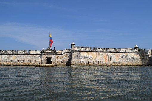 Vista de las murallas de Cartagena de Indias