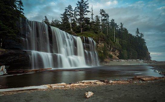 Tsusiat Falls, River, Adventure, Camping