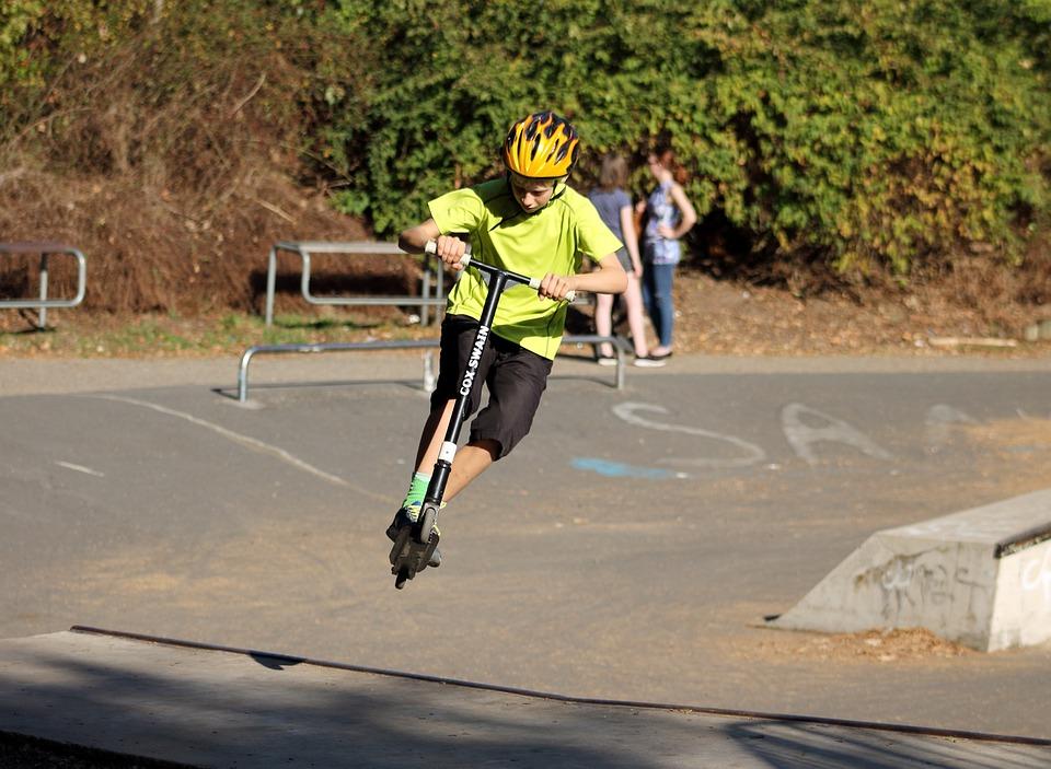 Skate Park, Inline Rulleskøjter, Ungdom, Børn, Sjov