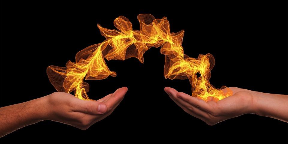 Handen, Te Geven, Deeltjes, Energie, Wellness, Exchange