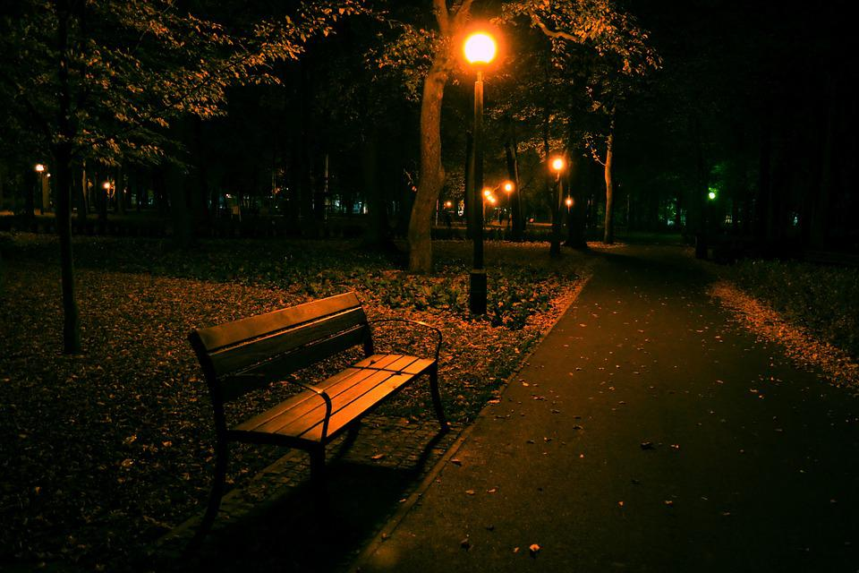 Night Park Bench Free Photo On Pixabay