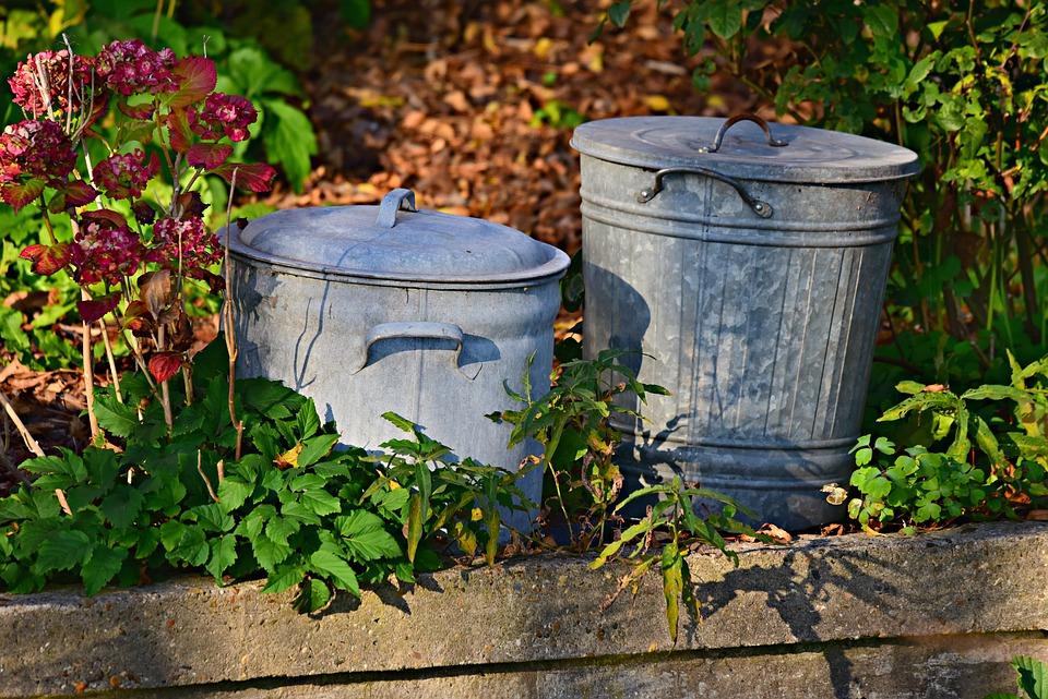 Mülltonne, Veränderungen, Haus, Garten.