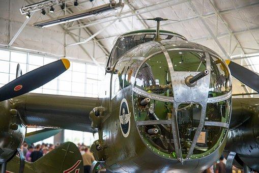 Nose Gun, Bombardier, Cockpit, B-25
