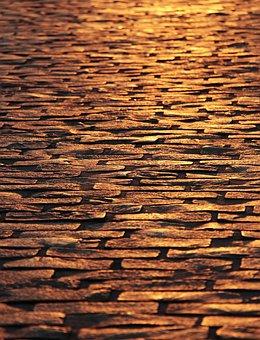 Keien, Straatstenen, Schemering, De Weg