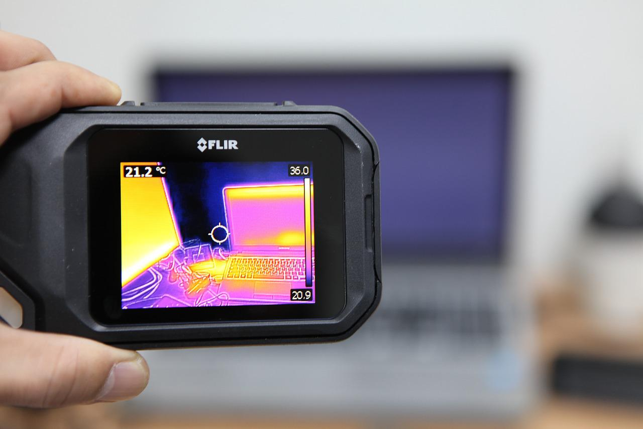 image of a thermal scanner camera
