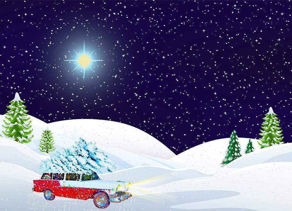 Griswolds Weihnachten.Weihnachten Auto Im Schnee Kostenloses Bild Auf Pixabay