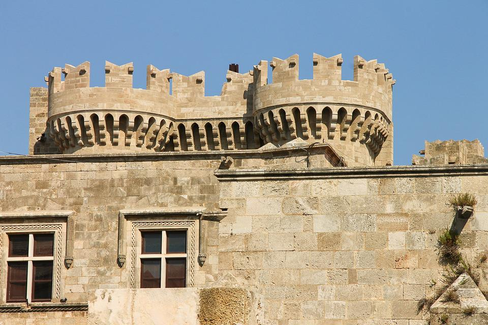 The palace of the Grand Master of Knights in Rhodes, Greece