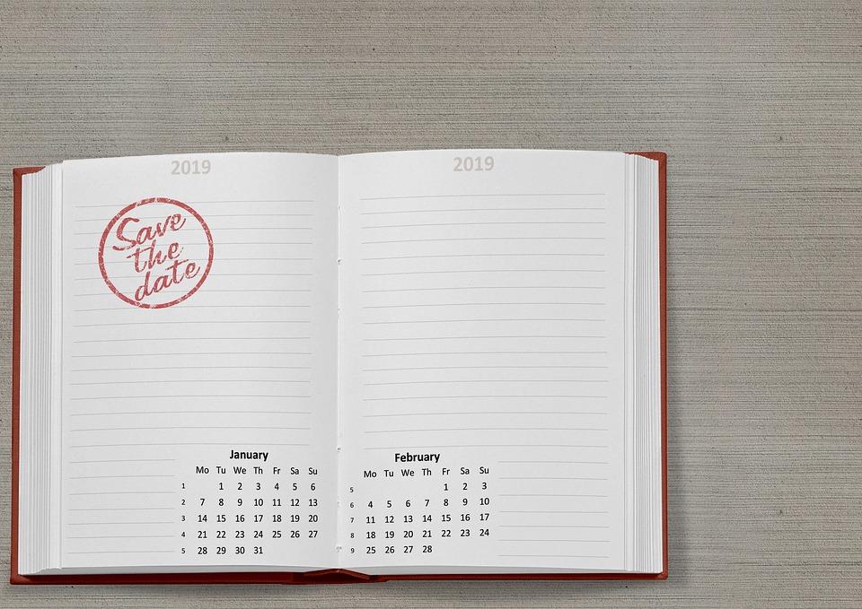 February Book It Calendar 2019 Calendar Book 2019   Free photo on Pixabay