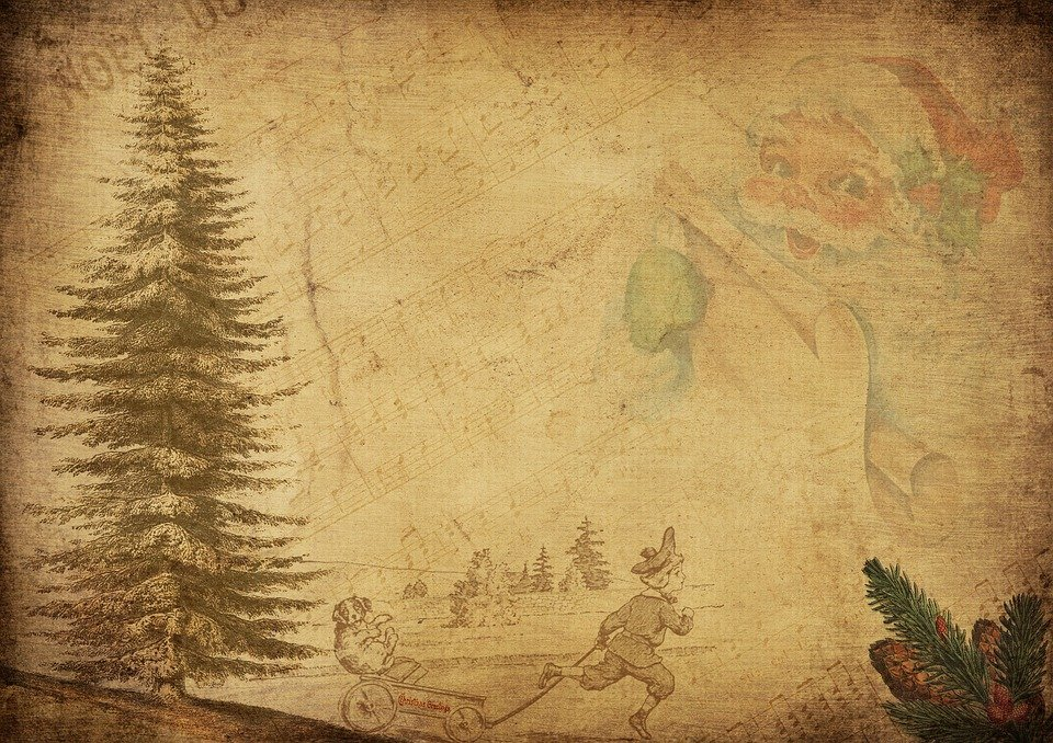 Vintage Babbo Natale Bambini Immagini Gratis Su Pixabay