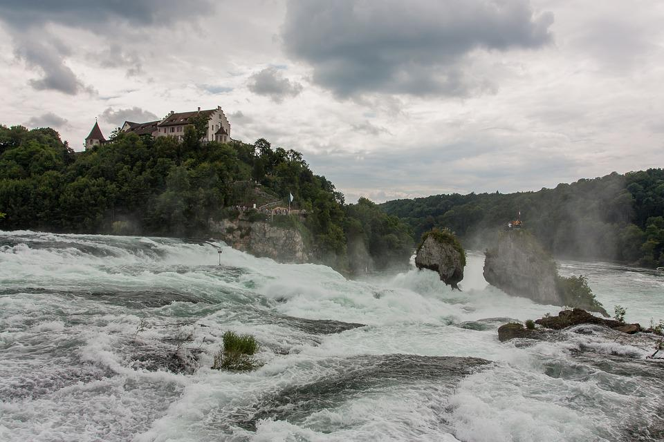 De Watervallen Van Schaffhausen.Rheinfall Schaffhausen Waterval Gratis Foto Op Pixabay
