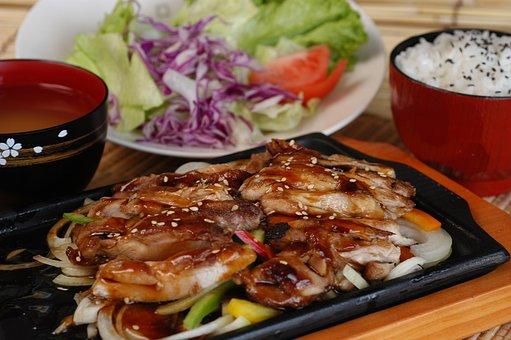 鶏の照り焼き, 日本料理, ホットプレート, 定食, 健康, 食品