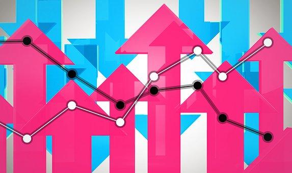 Up, Down, Graph, Arrow, Market, Figure