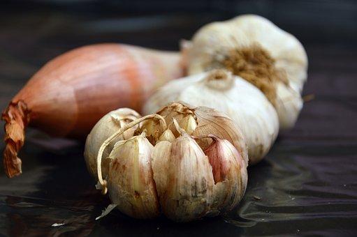 Garlic, Onion, Vegetables, Food