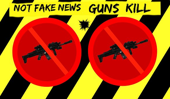 Warning, Fake News, Gun Control