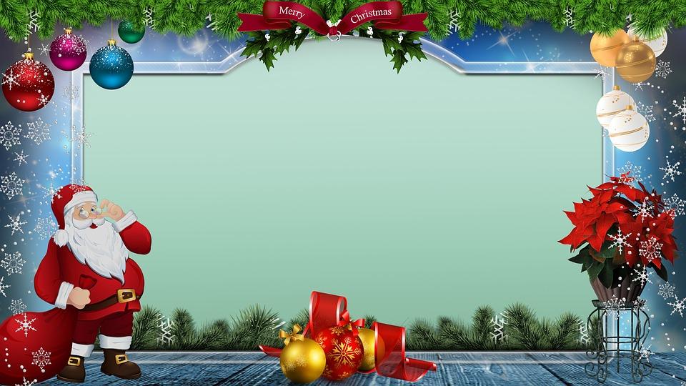 christmas santa claus frame free image on pixabay