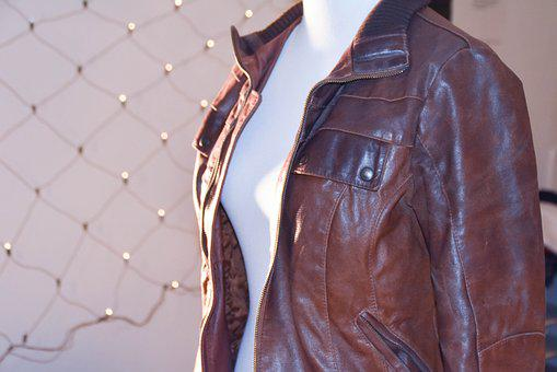 brown leather jacket for men & women