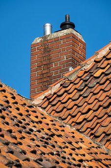 Fireplace, Roof, Tile, Roof Shingles