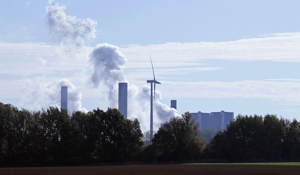 Kohlekraftwerk, Kohleenergie, Windrand, Windenergie
