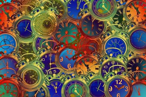 Zeit, Uhr, Verzerrung, Zeitverzerrung