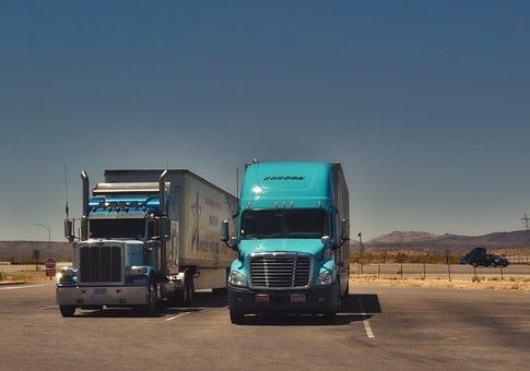 Camiones, Tráfico, Salto, De Transporte