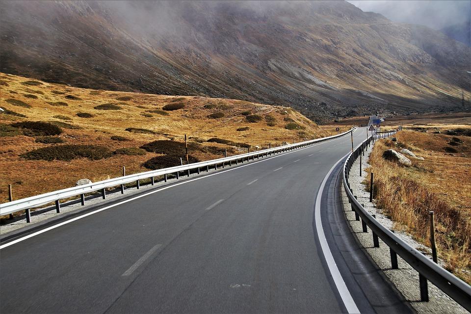 Montañas, Carretera, Wilderness, Místicas, Los Alpes