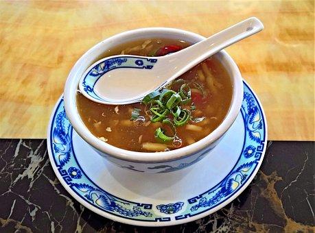 スープ, コンソメ カップ, 中国の酸味のピリ辛スープ, 専門, 食品