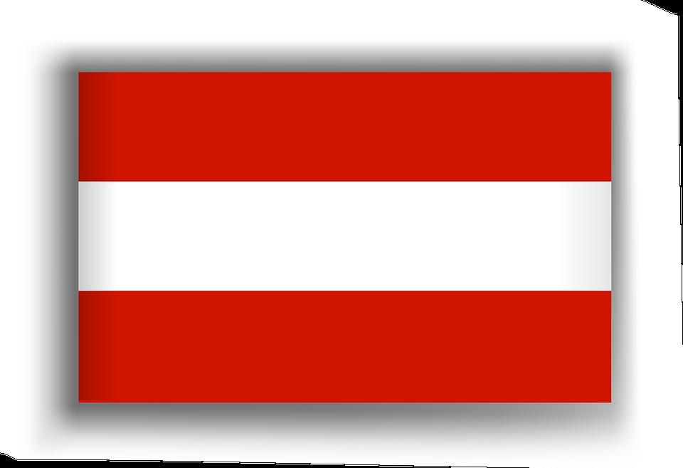 österreich Flagge Fahne Kostenloses Bild Auf Pixabay