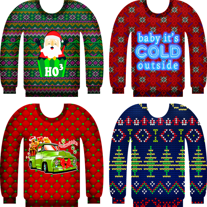 Ugly Christmas Sweater, Knitted Christmas Sweater