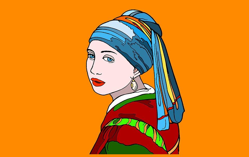 Inci Küpeli Kız Boyama Pixabayde ücretsiz Resim