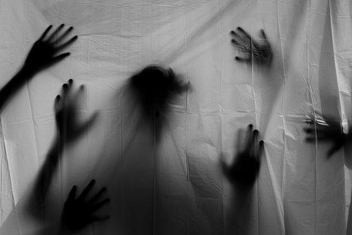 シルエット, 幽霊, ホラー, ハロウィーン, 手, 怖い, 気味の悪い, 悪夢