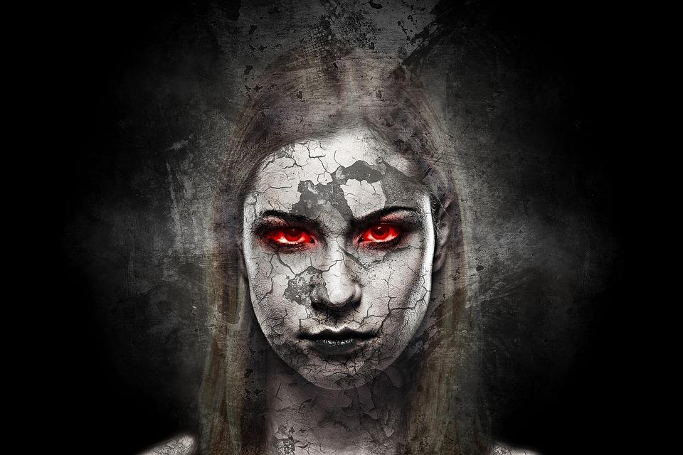 Kobieta, Twarz, Pęknięcia, Portret, Płeć Żeńska, Zły