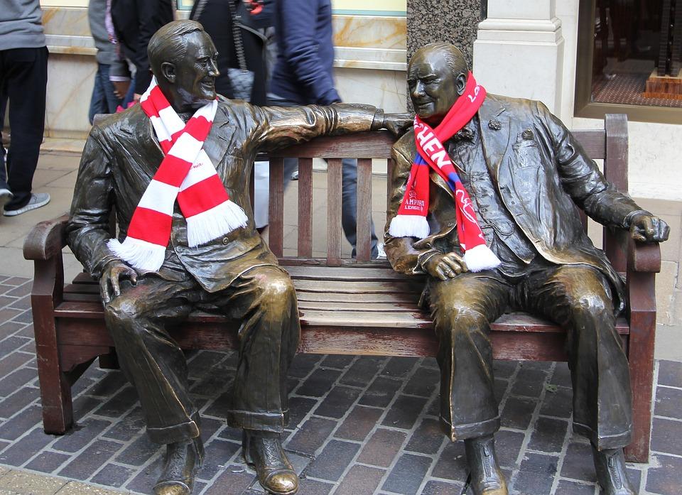 ロンドン, イギリス, 英国, 像, 彫刻, Bayernスカーフ, Clフィナーレロンドン, ブロンズ
