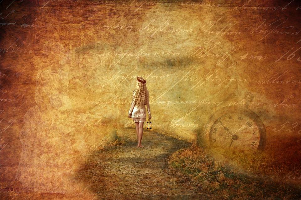ファンタジー, Papper, 女の子, 離れた, 単独, 官能的です, 時間, おとぎ話, 背景