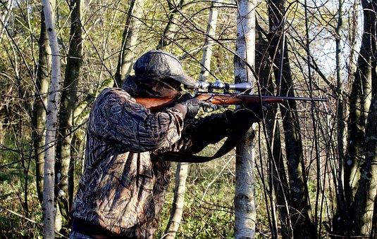 Hunter, Rifle, Hunting, Weapons, Shoot