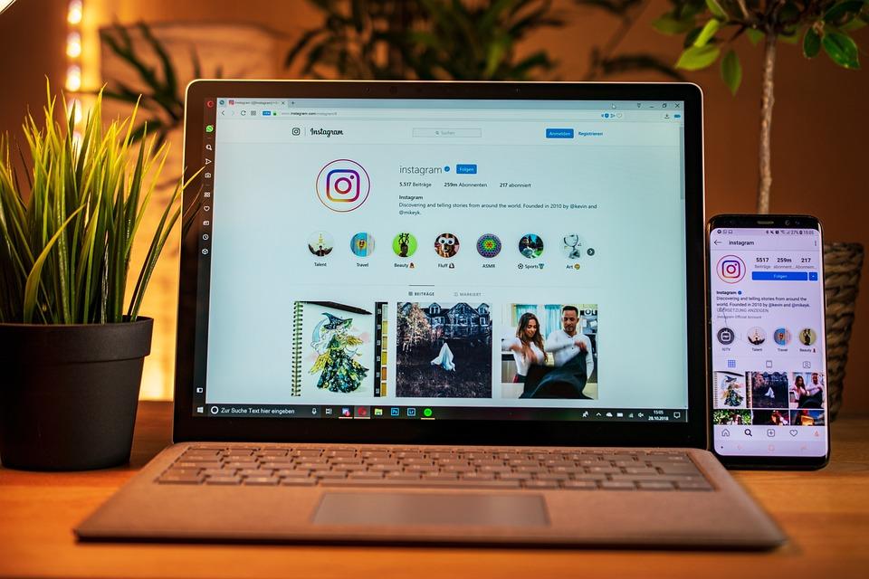 Laptop, Mobile Phone, Instagram, Social Media | Social Media Strategy for Hotels