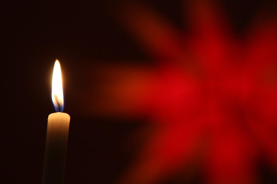 Weihnachten, Stern, Kerze, Rot, Weihnachtlich