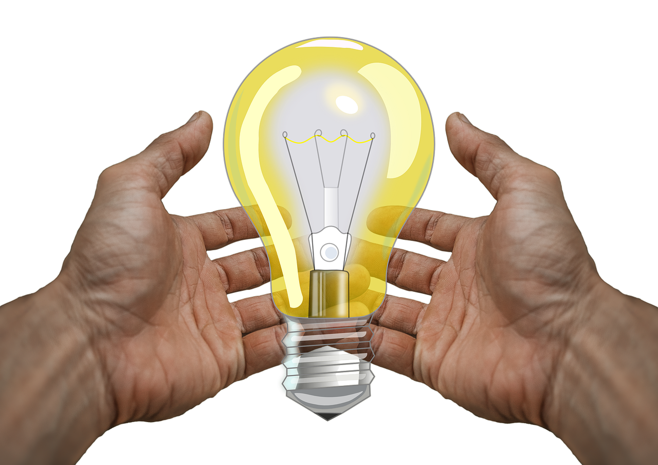 Лампа в руках картинка