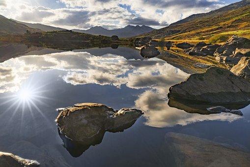 Snowdonia, Lake, Wales, Landscape