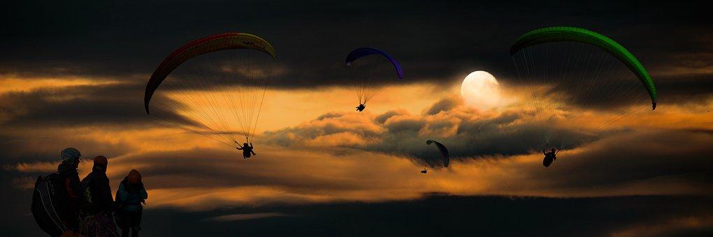 スポーツ, 飛行, アドベンチャー, パラグライディング, パラグライダー