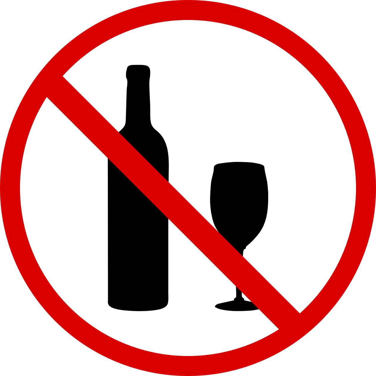 No Drinking Symbol Wine - Free vector graphic on Pixabay