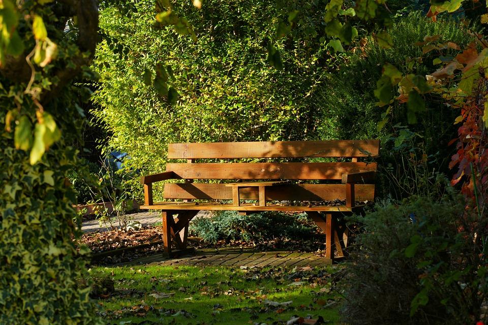 Garden Bench, Autumn, Wooden Bench, Mood, Garden, Seat